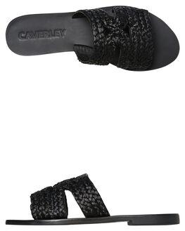 BLACK WOMENS FOOTWEAR CAVERLEY SLIDES - 192S046SBLK