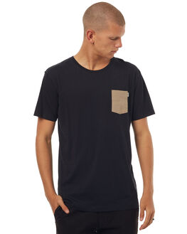 BLACK MENS CLOTHING RHYTHM TEES - OCT17M-CT01-BLK