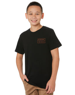 BLACK KIDS BOYS RIP CURL TOPS - KTETK20090