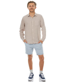 BLUE GREY MENS CLOTHING ACADEMY BRAND SHORTS - 18S608BLGY