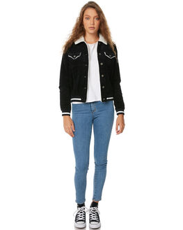 ANTHRACITE WOMENS CLOTHING ROXY JACKETS - ERJJK03246KVJ0