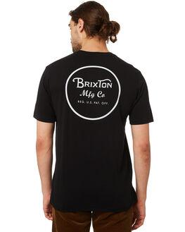 BLACK MENS CLOTHING BRIXTON TEES - 06485BLACK