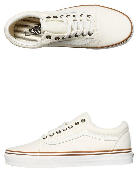 WHITE MENS FOOTWEAR VANS SKATE SHOES - SSVNA38G1R1OWHTM