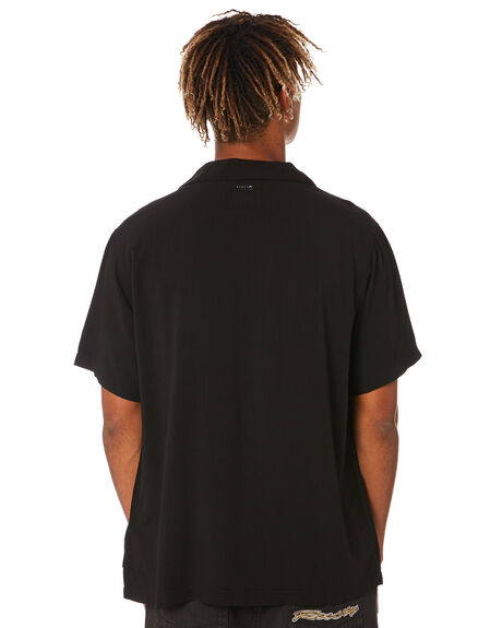 BLACK MENS CLOTHING RUSTY SHIRTS - WSM1003BLK