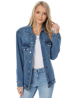 AGE OLD BLUE WOMENS CLOTHING ASSEMBLY JACKETS - AW-W21727AOLD