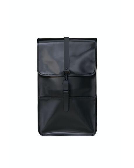 SHINY BLACK MENS ACCESSORIES RAINS BAGS + BACKPACKS - 4BAPA-SHBL-OS