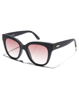 BLACK RUBBER WOMENS ACCESSORIES MINKPINK SUNGLASSES - 1708085BLKRB