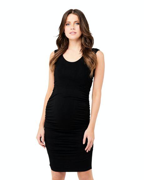 BLACK WOMENS CLOTHING RIPE MATERNITY DRESSES - S1977-BLACK-XS