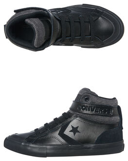 BLACK BLACK KIDS BOYS CONVERSE HI TOPS - 662817BKBK