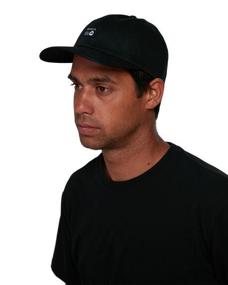 BLACK MENS ACCESSORIES RVCA HEADWEAR - RV-R305565-BLK