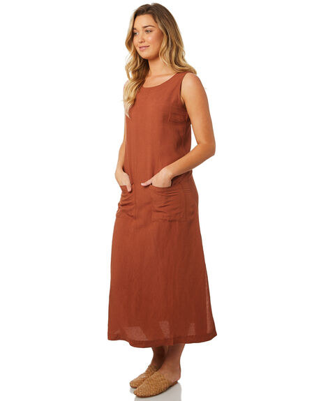 RUST OUTLET WOMENS SWELL DRESSES - S8184454RUST