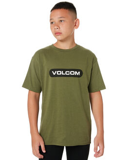 MILITARY GREEN KIDS BOYS VOLCOM TOPS - C3512001MLG