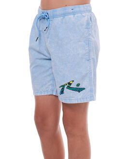 LIGHT BLUE KIDS BOYS RUSTY SHORTS - WKB0292LBL
