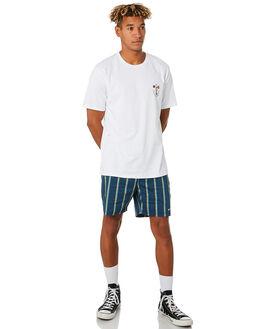 NAVY STRIPE MENS CLOTHING BARNEY COOLS BOARDSHORTS - 805-CC3NVYST