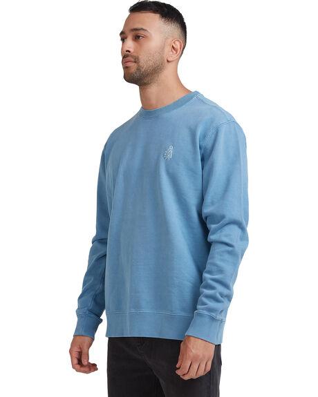 AGED INDIGO MENS CLOTHING RVCA HOODIES + SWEATS - R117154-AGI