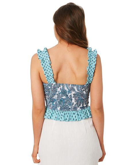 BLUE WOMENS CLOTHING TIGERLILY FASHION TOPS - T392062BLU