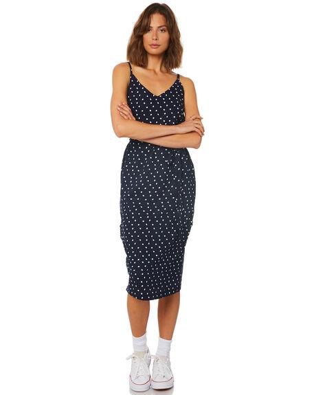 2a803d8b4185 Minkpink Pip Button Side Slip Dress - Navy Spot | SurfStitch