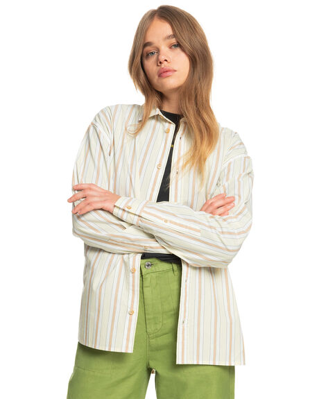 PASTEL YELLOW BOYFRI WOMENS CLOTHING QUIKSILVER FASHION TOPS - EQWWT03056-YDJ3