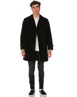 BLACK MENS CLOTHING NUDIE JEANS CO JACKETS - 160653B01