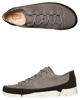 CHARCOAL MENS FOOTWEAR CLARKS ORIGINALS SNEAKERS - SS26122817CHARM