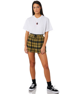 WHITE WOMENS CLOTHING STUSSY TEES - ST183008WHI