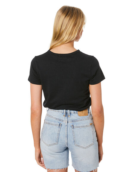 FADED BLACK OUTLET WOMENS THRILLS TEES - WTH20-104BFFBLK