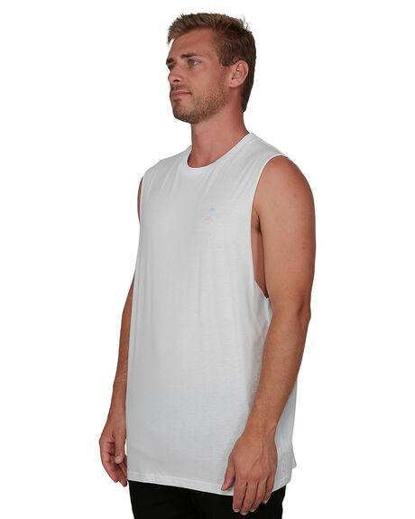 WHITE MENS CLOTHING VONZIPPER SINGLETS - VZ-V901522-WHT