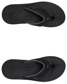 BLACK/GREY/BROWN MENS FOOTWEAR QUIKSILVER THONGS - AQYL100929-XKSC