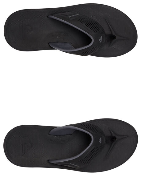 BLACK/GREY/BROWN MENS FOOTWEAR QUIKSILVER THONGS - AQYL100929-XKSC