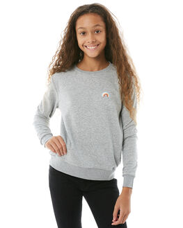 GREY MARLE KIDS GIRLS SWELL JUMPERS + JACKETS - S6182101GRYMA