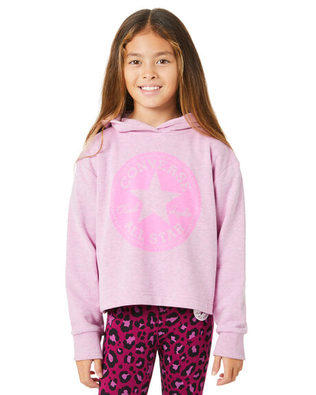 PEONY PINK HEATHER KIDS GIRLS CONVERSE JUMPERS + JACKETS - R46A329AD2