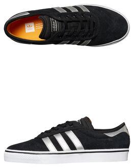 BLACK SILVER WHITE MENS FOOTWEAR ADIDAS ORIGINALS SKATE SHOES - BY3949BKSIL