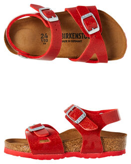 MAGIC GALAXY RED KIDS GIRLS BIRKENSTOCK FOOTWEAR - 1007258RED