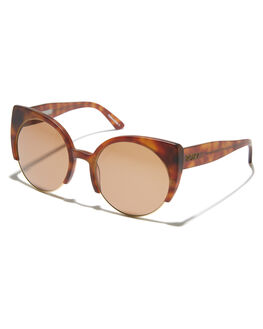 MATTE HAVANA BROWN WOMENS ACCESSORIES ROXY SUNGLASSES - ERJEY03065XCCC