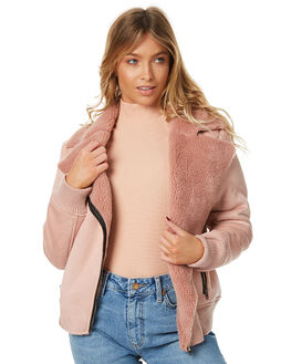 BLUSH WOMENS CLOTHING MINKPINK JACKETS - MP1610580BLSH