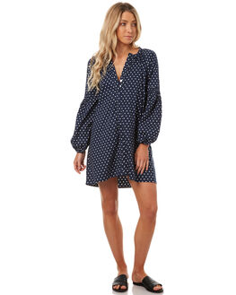 NAVY POLKA DOT WOMENS CLOTHING LILYA DRESSES - CPD01-LSP17NPD