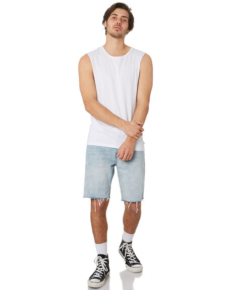 WHITE MENS CLOTHING SILENT THEORY SINGLETS - 4001003WHT