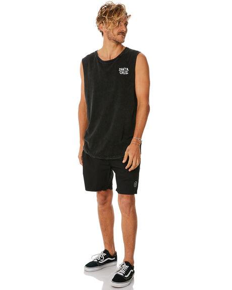 BLACK MENS CLOTHING SANTA CRUZ BOARDSHORTS - SC-MBNC262BLK