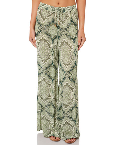 GREEN WOMENS CLOTHING TIGERLILY PANTS - T382373GRE