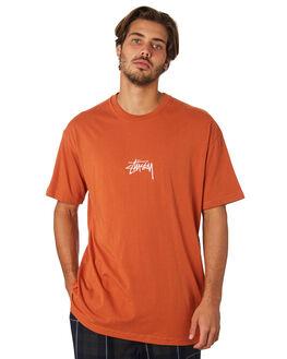 RUST MENS CLOTHING STUSSY TEES - ST082000RST