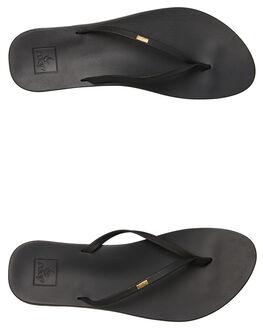 BLACK WOMENS FOOTWEAR REEF THONGS - A39U6BLA