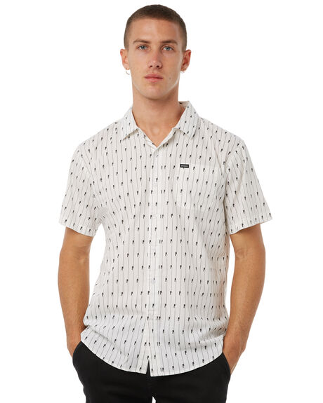 WHITE OUTLET MENS BRIXTON SHIRTS - 01098WHBLK