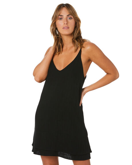 BLACK WOMENS CLOTHING RUSTY DRESSES - DRL1111BLK