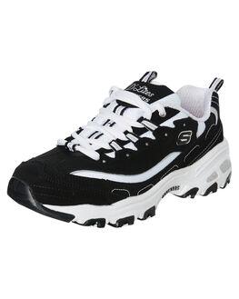 BLACK WHITE WOMENS FOOTWEAR SKECHERS SNEAKERS - 11930BKW