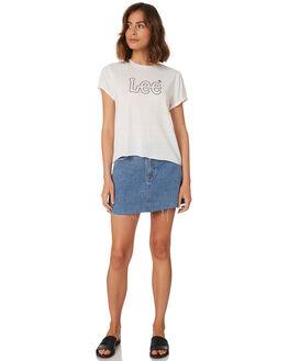 VINTAGE WHITE WOMENS CLOTHING LEE TEES - L-651720-922
