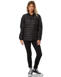 BLACK WOMENS CLOTHING PATAGONIA JACKETS - 84683BLK