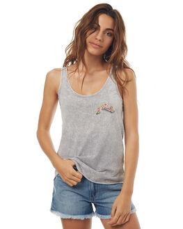 STONE GREY WOMENS CLOTHING RUSTY SINGLETS - TSL0531SOG