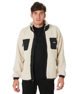 NATURAL MENS CLOTHING OBEY JACKETS - 121800383NAT