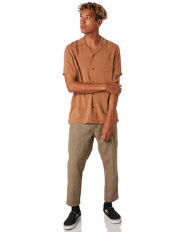 BURNT KHAKI MENS CLOTHING BANKS SHIRTS - WSS0104BTK