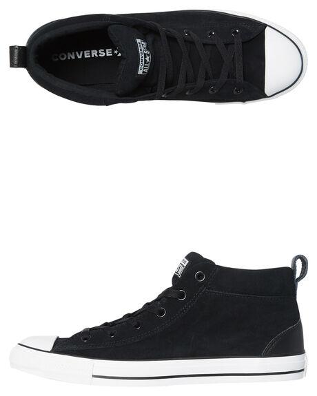BLACK WHITE MENS FOOTWEAR CONVERSE SNEAKERS - 161465BKWH